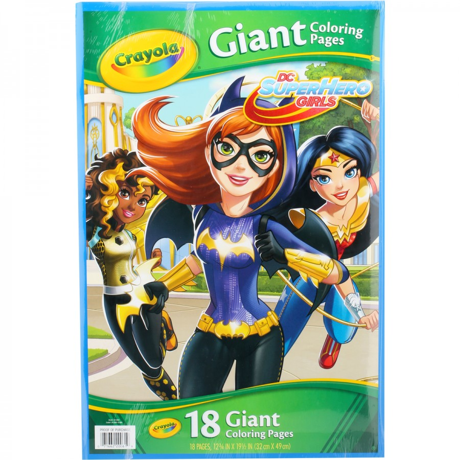 Crayola Giant Colouring Pages DC Girls