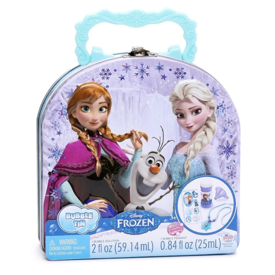 Frozen Tin With Bubbles & Stickers