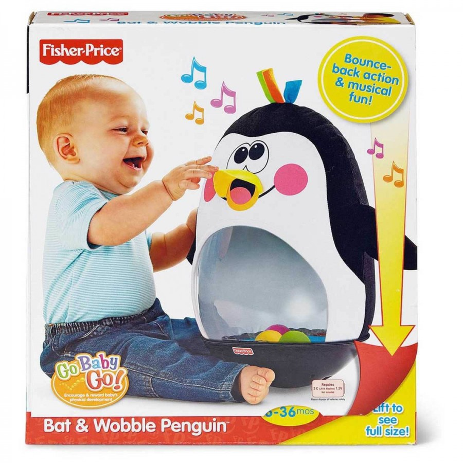 Fisher Price Go Baby Go Bat & Wobble Penguin