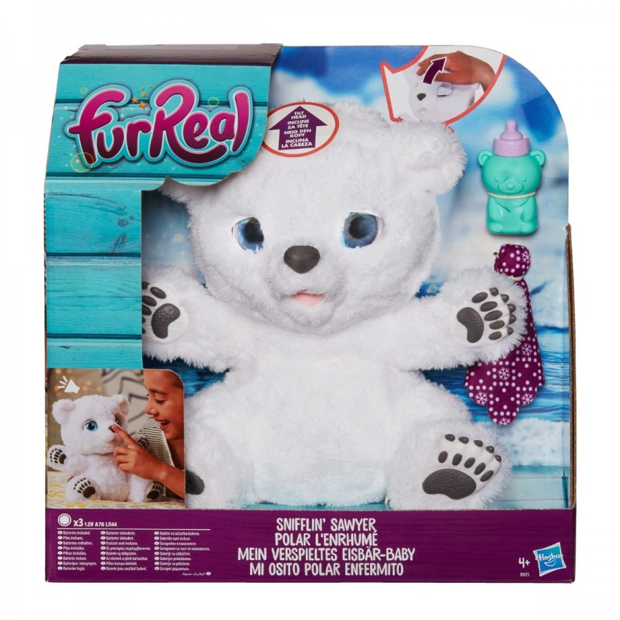 Furreal Snifflin Sawyer Polar Bear