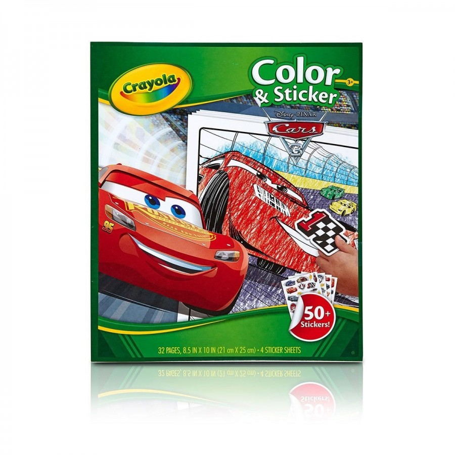 Crayola Colour & Sticker Cars 3
