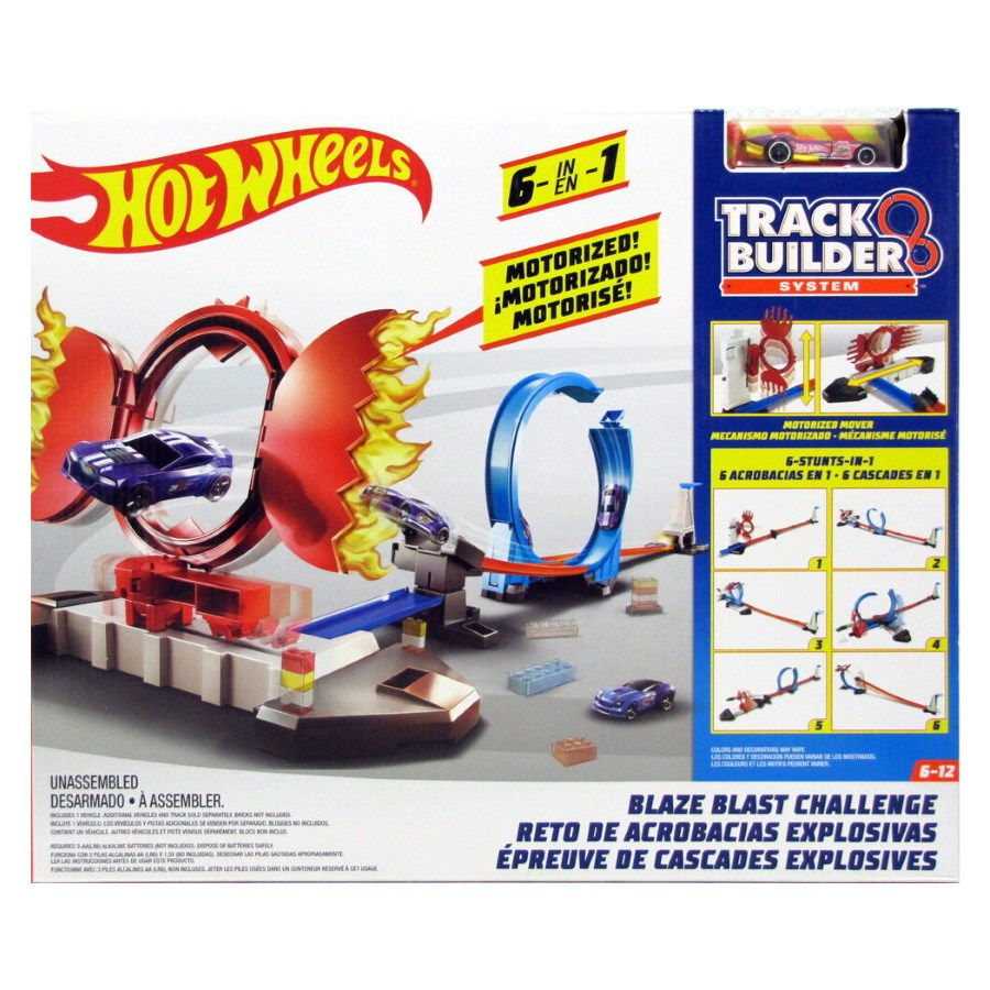 Hot Wheels Track Builder Blaze Blast Challenge