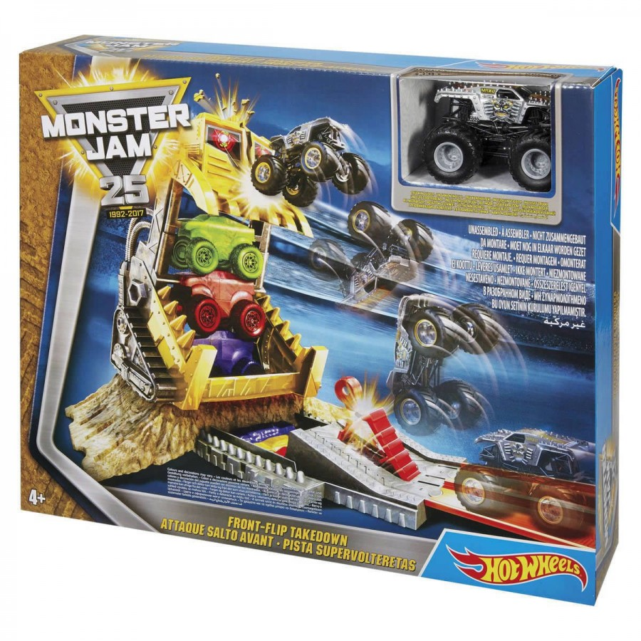 Hot Wheels Monster Jam Front Flip Takedown Play Set
