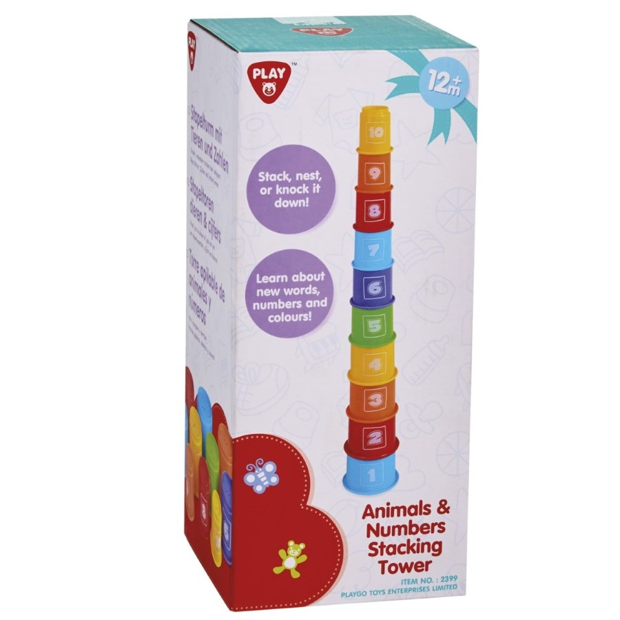Animals & Numbers Stacking Tower