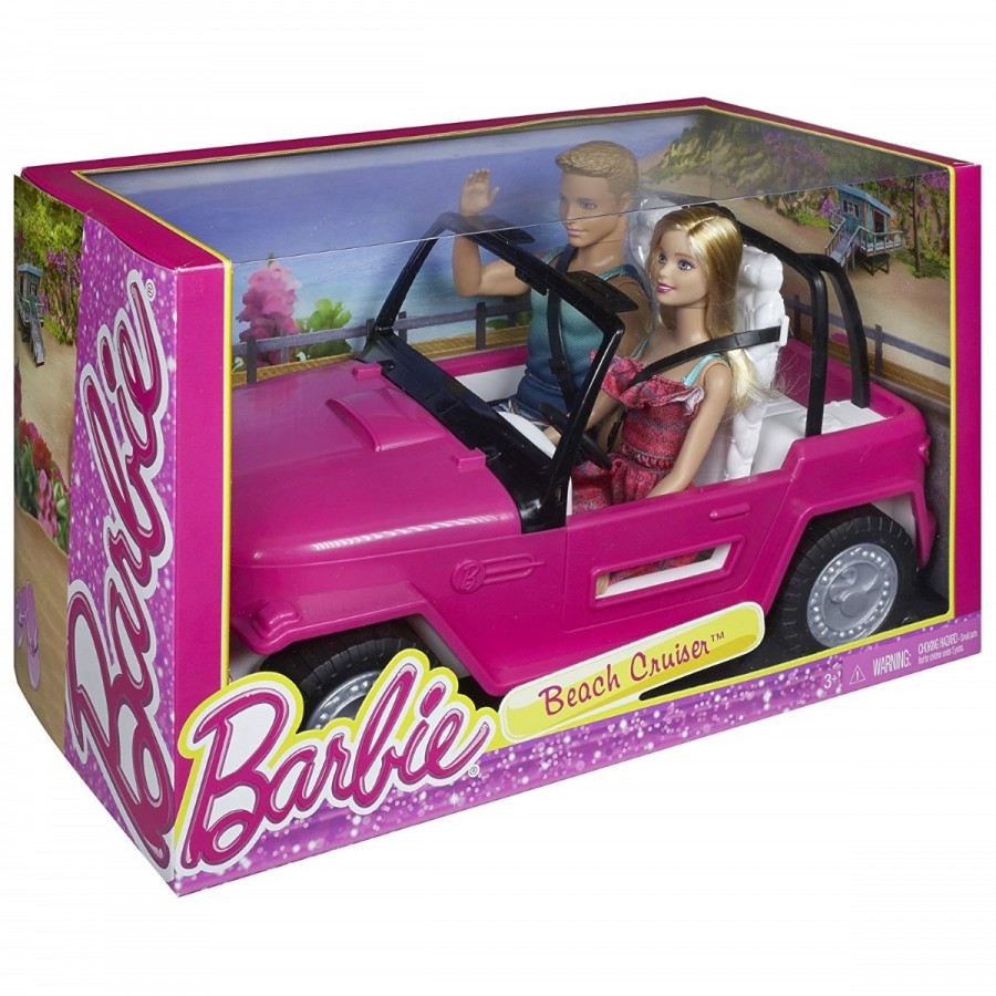 Barbie Beach Cruiser With Barbie & Ken