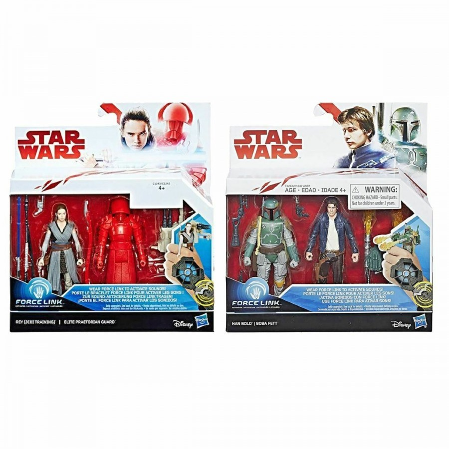 Star Wars VIII Galaxy 3.75 Inch Deluxe Figure 2 Pack Assorted