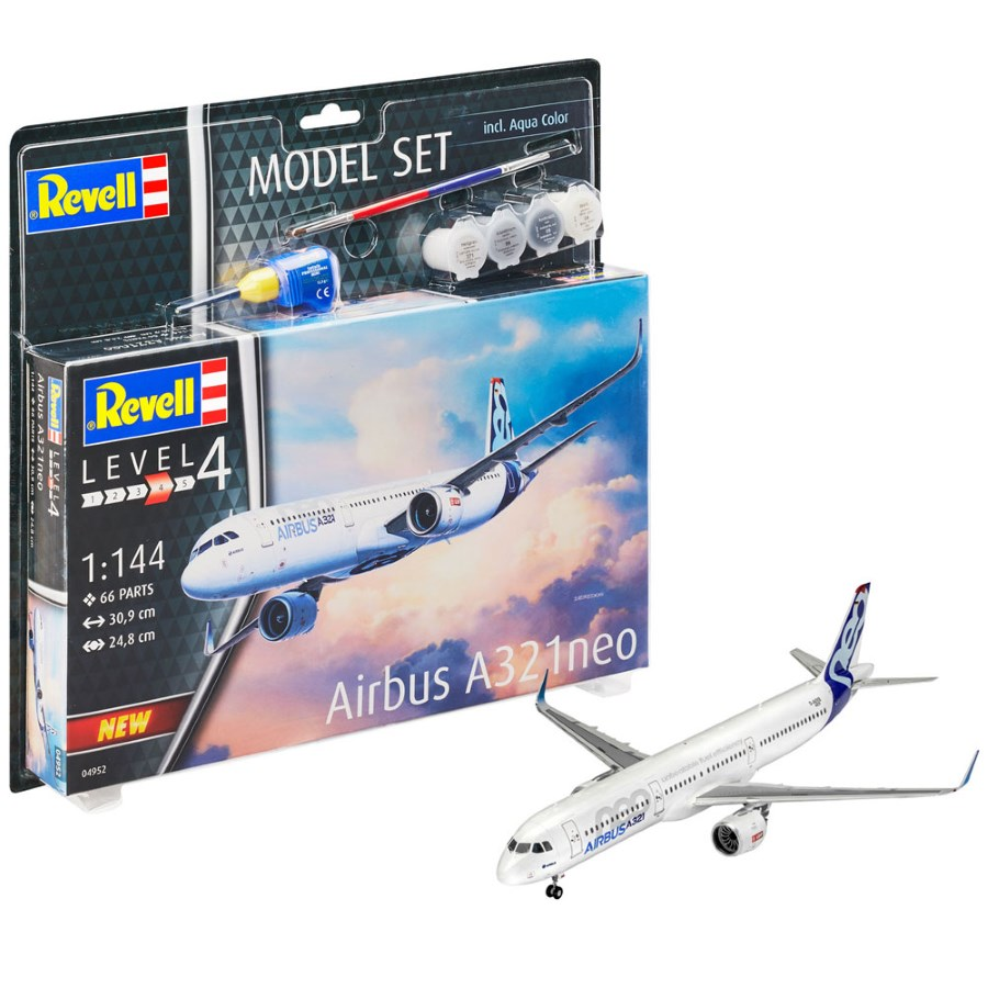 Revell Kit Gift Set 1:144 Airbus A321 Neo