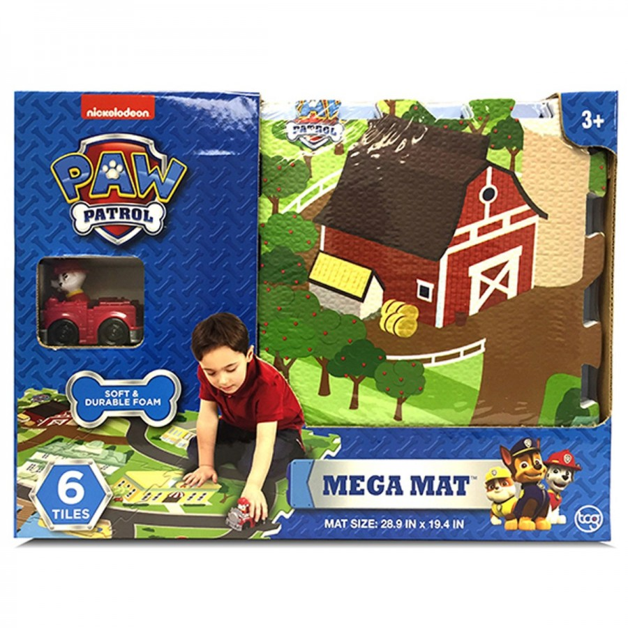 Paw Patrol Mega Mat 6 Tiles & Vehicle